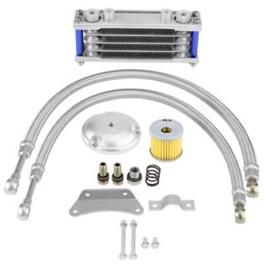 65ml Motorcycle Oil Cooler Engine Oil Cooling Radiator System Kit for Suzuki