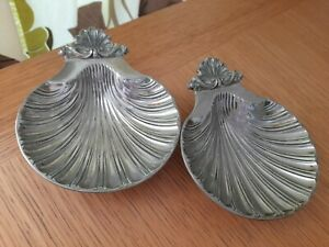 Vintage Silver Shell Dishes