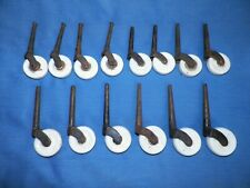 14 Antique Porcelain & Cast Iron Furniture Bed Casters Rollers Wheels Mixed Lot