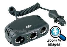 Ring RMS3 12v Car Cigarette Lighter Socket 3 Way Multi Adaptor, Battery Analyser