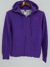 XBM281 Women The North Face Purple Zip Front Hooded Hoodie Size M
