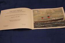 SS FRANCE original document trials from shipyards Saint Nazaire RARE