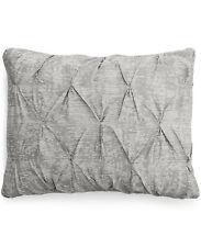 BAR III Diamond Pleat Grey and White Standard Pillowshams 20''X28''