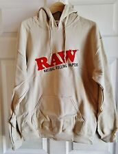 Raw Natural Rolling Papers Sand/Tan Pull Over Hoodie Sweatshirt XX-Large
