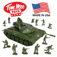 Tim Mee M41 Walker Bulldog M60 TANK Playset- Olive Green 13pc - Made in USA