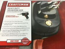 HEAVY DUTY SOLDERING GUN ( 230/150 WATT)...By CRAFTSMAN  plus extras FREE SHIP