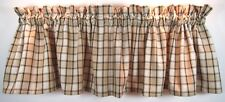 Peppercorn Valance 72x14 Tan Black Ivory Plaid Cotton Park Designs