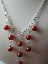 65cts Red Agate Necklace