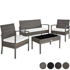 Beau Ensemble salon de jardin en résine tressée poly rotin canapé table chaises