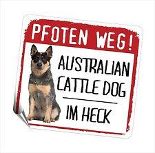 Auto Aufkleber REFLECTIVE CATTLE DOG AUSTRALIAN PFOTEN WEG Hunde BY SIVIWONDER