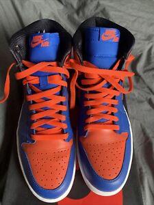 Nike Air Jordan 1 Retro High OG Knicks Blue Orange Size US 11 Worn Once Like DS