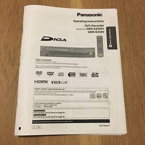 DMR-EZ485V DMR-EZ48V Reprint Operating Instructions User Owner's Manual 92 pages