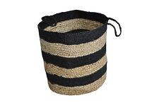 Large Natural Jute Basket-Storage Organizer Interior Decor Set Of 2 HandWoven