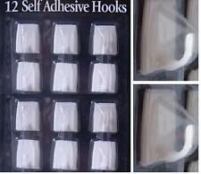 12 PC Stick On HookS Self Adhesive White Wall Sticky Clothes Hat Coat Hanger Peg