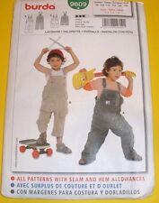 Burda 9609 Child Boys Girls  Overalls Shortalls sizes 3-8   Uncut
