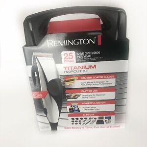 Remington Titanium HC822 - 25 Piece Hair Clipper Haircut Kit - FAST SHIPPING!!