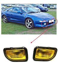 For 1991 1995 Toyota MR2 MR 2 Fog Bumper Lights Set Lamps Yellow