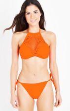 NEW LOOK-Bright Orange Laser Cut Bikini-Size 10-Bnwt