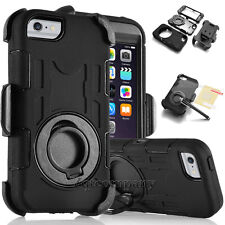 Samsung Galaxy Full Body Hybrid Rugged Belt Clip Holster Case Cover Stand Black