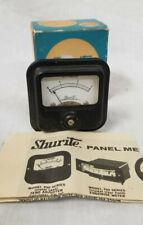 Vintage Shurite Panel Meter 9202 0-3 DC Amperes With Manual