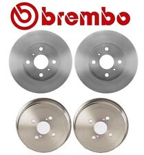 For Corolla Chevy Geo Prizm Front Brake Disc Rotors Coated Rear Drums Kit Brembo