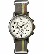"Timex TW2P78000, ""Weekender"" Brown Leather Watch, Chronograph, TW2P780009J"
