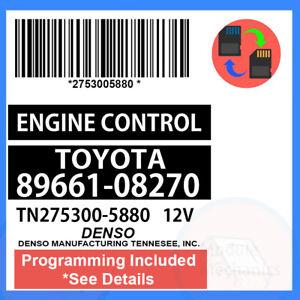 89661-08270 W/ PROGRAMMING 2008 08 2009 09 2010 10 Toyota Sienna ECU ECM PCM