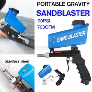 90PSI Portable 700CFM Gravity Sandblasting Gun Tool Pneumatic Sand Blasting Tool