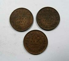 British East India Company King George V (3) 1/12 Anna coins 1914, 1918, 1930