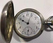 Antique Longines Pocket Watch, Patent Click, Hunter Case 16S, Running