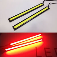 2 x Red Super Bright COB LED Light DRL Fog Driving Lamp Waterproof 14cm 12V