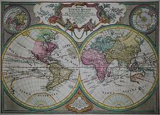 Mappa totius mundi ... - Seltene Weltkarte von T. Lotter 1775 - Rare world map
