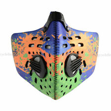 Rockbros Cycling Anti-dust Half Face Mask with Filter Neoprene Orange