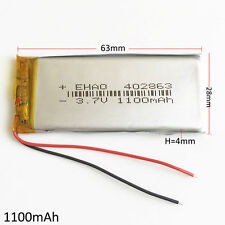 1100mAh Lipo Battery Rechargeable 3.7V  For PAD PSP Cell phone Camera GPS 402863