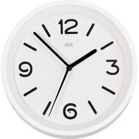 Funk Wanduhr nachts beleuchtet weiß Uhr mit (Nachtlicht) Sensor ADE CK1710