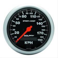 "Auto Meter Sport Comp 3 3/8"" Speedometer Metric 0-190 KPH 3987-M"
