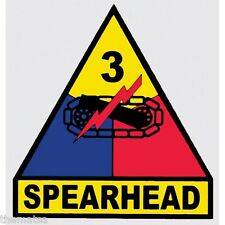 ARMY 3RD ARMORED DIVISION SPEARHEAD MILITARY 3.5  INCH  DECAL STICKER