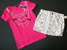 Gap Twist & Shout kensington portobello brick lane leopard skirt top shirt 8 M