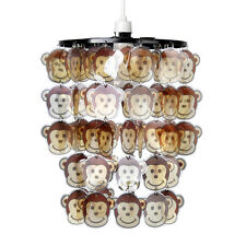 Boys Bedroom  Nursery Cheeky Monkey Animal Face Ceiling Light Shade Lampshade
