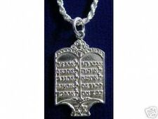 Scripture Sterling silver 10 Commandments Hebrew Look Star Of David Charm Jewish