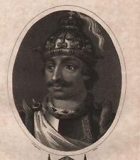 1807 DATATO Georgiano stampa ~ Eurico re dei Visigoti ~