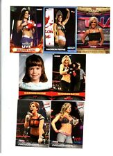 Madison Rayne Wrestling Lot of 7 Different Trading Cards WWE TNA MR-B1