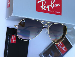 Ray-Ban RB 3025 001/51 55mm SMALL  Aviator Arista Brown Gradient Lens Unisex