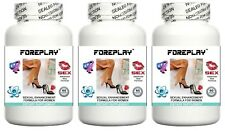3x FOREPLAY WOMENS LIBIDO ENHANCING PILLS INCREASE SEX DRIVE AND ORGASMS TABLETS