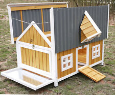 ECO LARGE CHICKEN COOP HEN HOUSE ARK RABBIT HUTCH RUN NEW LARGE DUCK PLASTIC