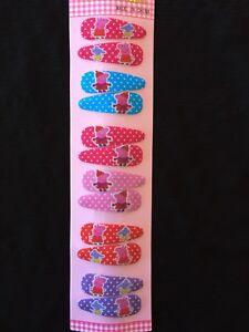 12pcs Peppa Pig girls kids hair clips hair accessories A+ 2 free stickers