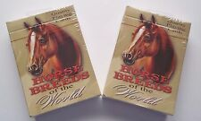 2 DECKS Horse Breeds of the World Playing Cards Artwork by Mary Bausman NEW