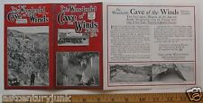 Travel Brochure For The Wonderful Cave Of Winds Manitou, Colo