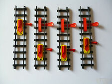Lot x 4 Faller O Gauge 3711 Lever Activated Red Stop Switch +3 Uncoupling Levers