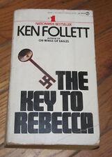 """The Key To Rebecca"" Signet Novel paperback Book by Ken Follett War Mystery"